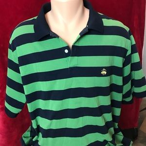 Brooks Brothers green  striped polo size XL